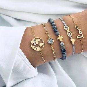 5 Boho Love Earth Bracelet Set